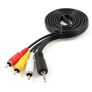 Cable 3.5 mm Tripolar a AV 3 RCA Audio y Video Macho