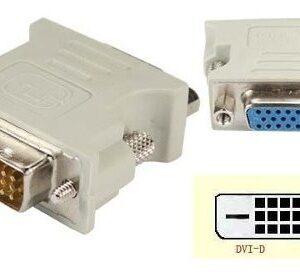 Conector Adaptador Dvi 24+1 Macho a Vga Hembra