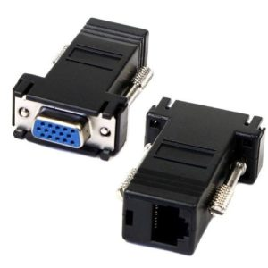 Conector Adaptador VGA Hembra a Rj45 Hembra