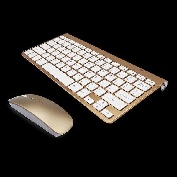 Wireless keyboard mouse combo anera goldWireless keyboard mouse combo anera gold