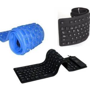 Teclado Flexible Negro o Azul Grande 49X13.5 Cm