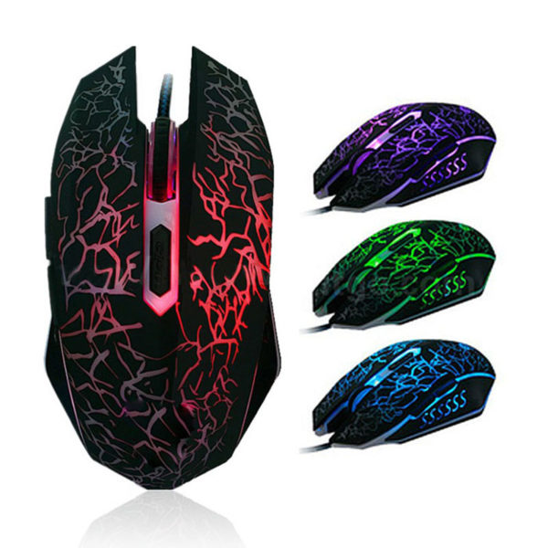 Mouse Usb Gaming 6 Botones Negro 1.5 metros Anera