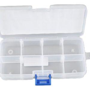 Caja Pequeña para Componentes 8 Secciones 13x6.9x2.6 Cm