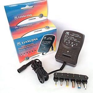 Adaptador Ac/Dc Electrónico Uni 500 mA 3 Voltios a 12 Voltios Lianlong