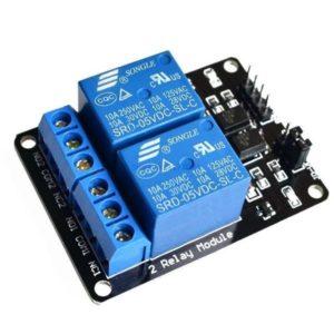 Módulo Relé para Arduino Doble 5 Voltios 10 Amperios