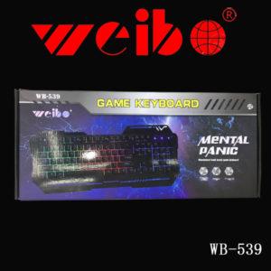 Teclado Usb Gaming Weibo WB-539
