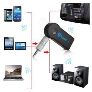 Receptor Bluetooth Auxiliar Recargable para Carro Radio Parlante