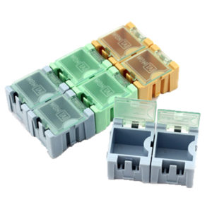 Caja Plástica para Componentes Electrónicos Pequeña 2.4x3.1x2.1 Cm