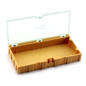 Caja Plástica para Componentes Electrónicos Grande 12.5x6.2x2.1 Cm