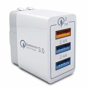 Adaptador Cargador de Pared 3 Puertos USB Blanco