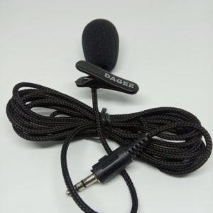 Micrófono de Solapa DAGEE Plug 3.5 mm Estéreo