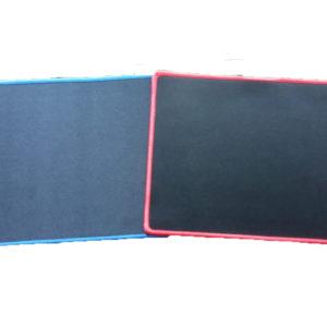 Alfombrilla Posa Ratón Gamer Sencillo Filo Azul Filo Rojo 21 X 25 Centímetros