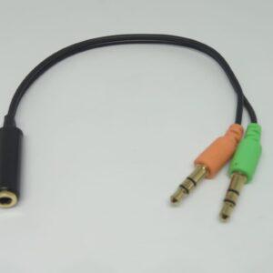 Y de Audio 1 Jack 3.5 2 Plug Microfono Audifonos