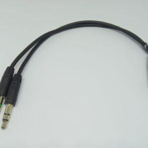 Cable en Y de Audio 1 Jack 3.5 2 Plug Micrófono Audifonos