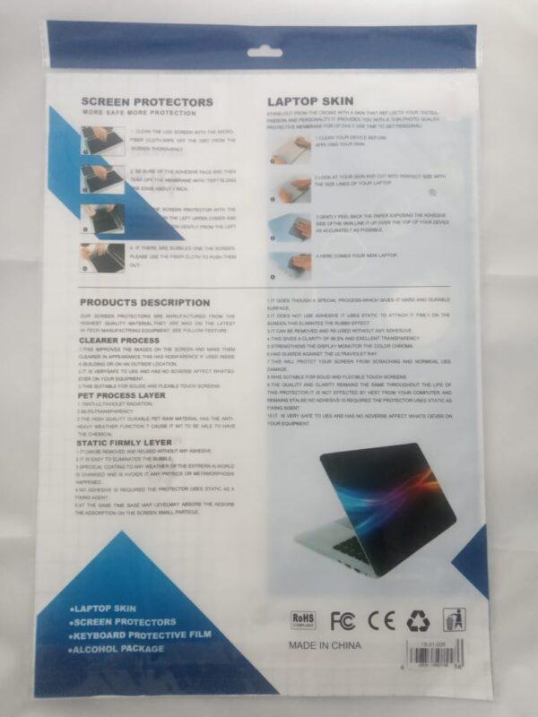 Kit Protector 3 en 1: Protector de Pantalla Protector de Teclado Protector de Tapa o Skin Transparente 14