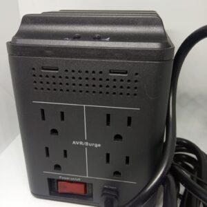Regulador de Voltaje Quasad QUSB-648BK 4 Tomas + 4 Puertos Usb 2.1A
