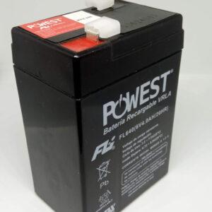 Batería Recargable Seca 6 V 4 Ah FL640 7X4.5X10 Centímetros